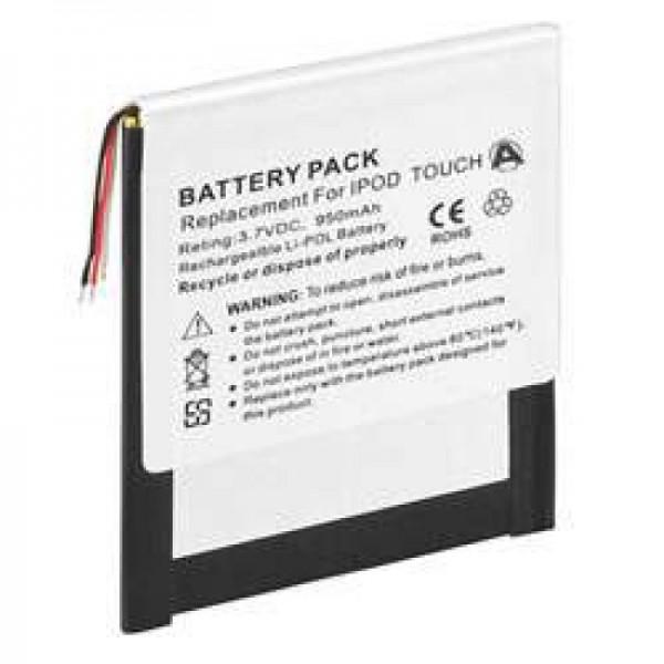 AccuCell batterie adaptéee pour Apple iPOD touch 8G, 4G, 616-0343