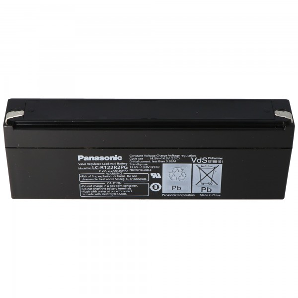 Batterie Panasonic LC-R122R2PD Batterie LC-R122R2PG 12 Volts 2.2Ah