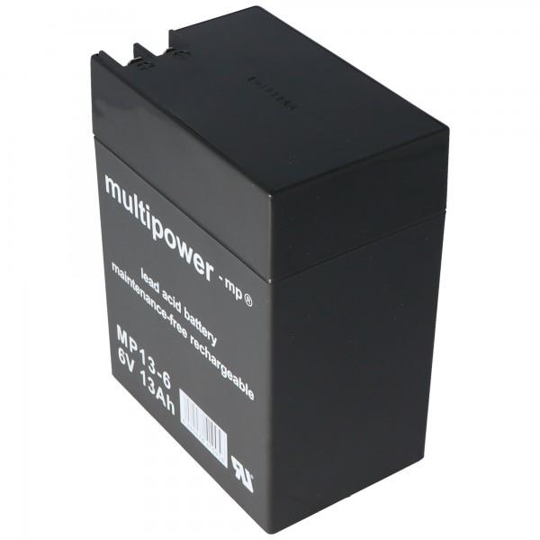 Batterie plomb multi-puissance MP13-6 avec contact à fiche de 4,8 mm et de 6,3 mm