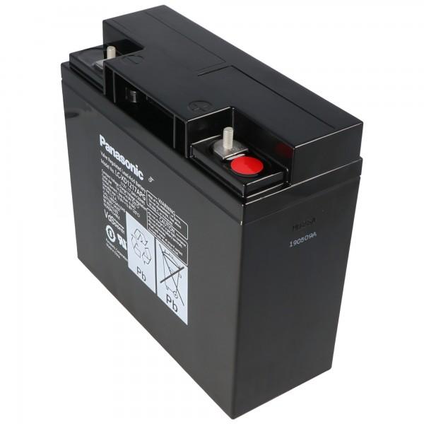 Batterie au plomb Panasonic LC-XD1217APG PB 12 Volt 17000 mAh, connexion à vis M5