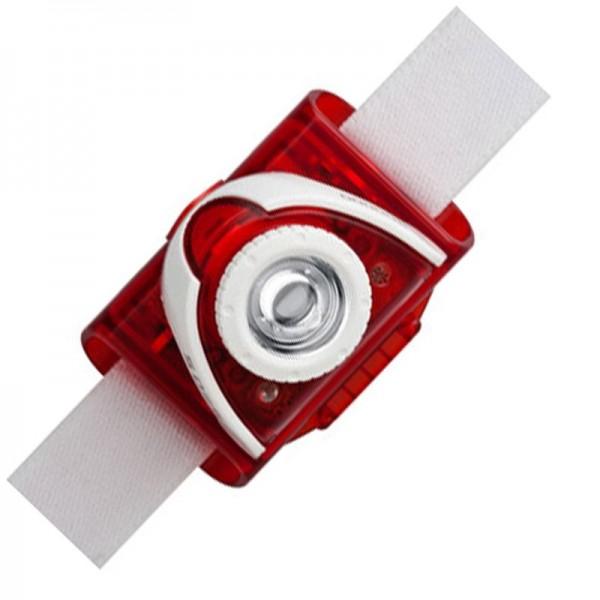 Phare LED Lenser SEO 5 LED Rouge avec piles