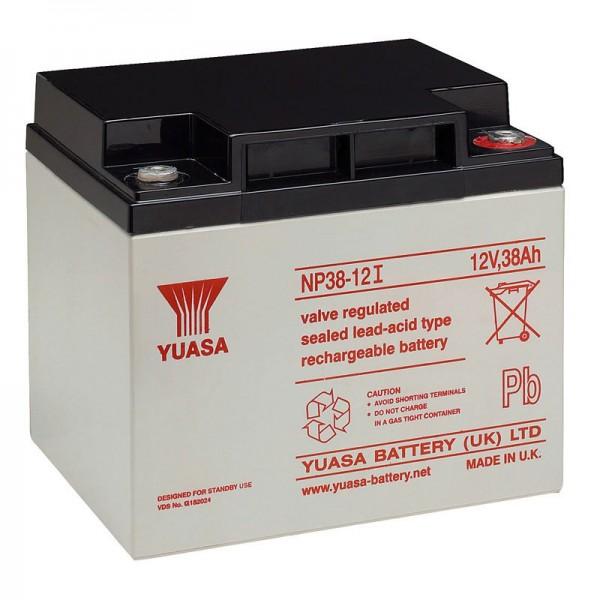Batterie au plomb Yuasa NP38-12I avec filetage M5, 12 volts, 38Ah