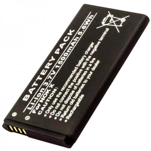 Batterie compatible avec la batterie Nokia BN-01 de 3,7 volts et 1500mAh