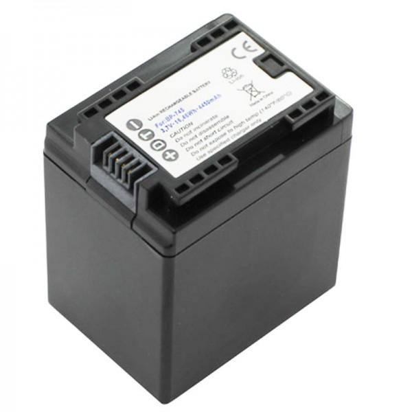 Batterie Canon BP-745 de AccuCell pour Canon LEGRIA HF M52