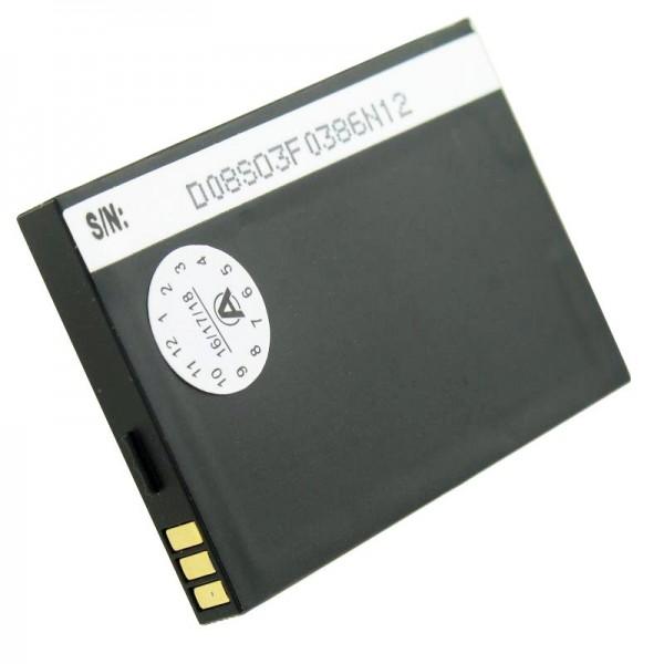AccuCell batterie adapté pour la batterie de téléphone portable Swissvoice MP01 batterie TJB-1