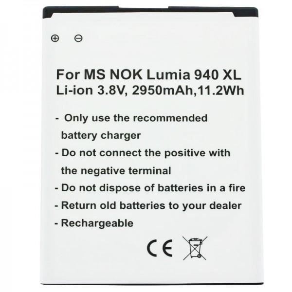 Batterie compatible pour Microsoft Lumia 950 XL, Lumia 950 XL dual SIM BV-T4D