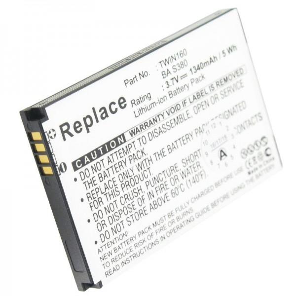 Batterie pour HTC Hero 100, Hero 130, A6262, TWIN160, BAS480