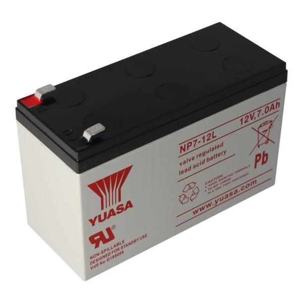 YUASA NP7-12L Batterie Fil PB 12 Volts 7000mAh avec Contacts 6.3mm