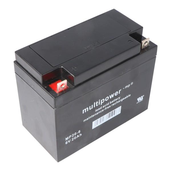 Batterie PB Multipower MP20-6, 6 Volts avec 20 Ah, 2000 mAh