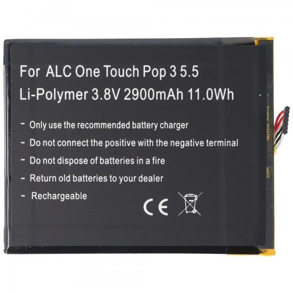 Batterie compatible pour Alcatel One Touch Pop 3 5.5, OT-5025, TLp029A1, CAC2910008C1