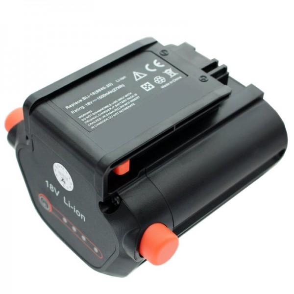 Batterie compatible avec taille-haies Accu Gardena EasyCut Li-18/50 Gardena 09840-20 batterie 1500mAh