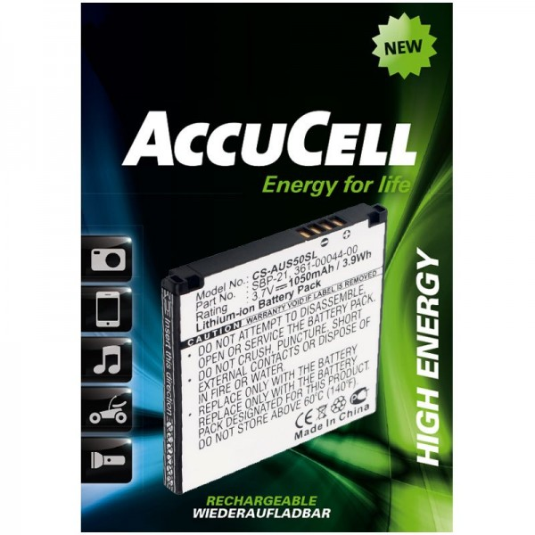 Batterie AccuCell adaptable sur Garmin Asus Nüvifone A50, Garmin Fone