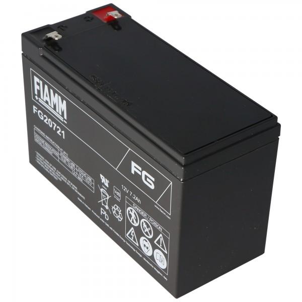 Fiamm FG20721 Batterie 12 Volts, 7.2Ah avec contacts mâles 4.8mm
