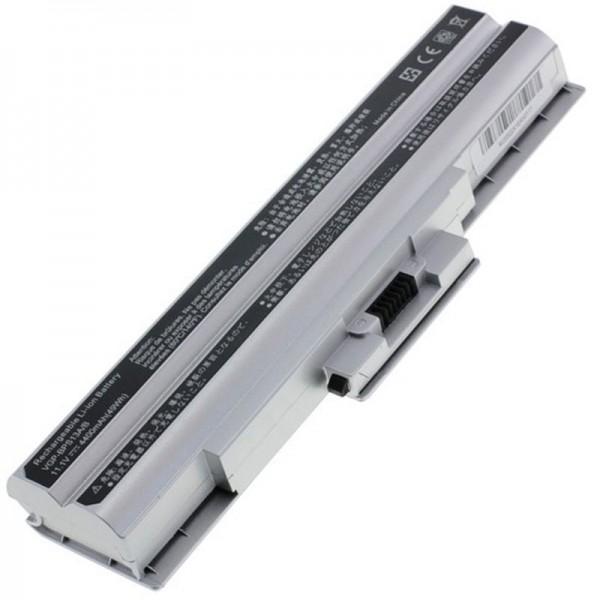 Batterie adaptée pour Sony VGP-BPS21, VGP-BPS21A 4400mAh Argent