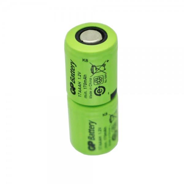 Micro-batterie GP KAN 1 / 3AAA Batterie Ni-MH de 2,4 V 170 mAh environ 28x11mm