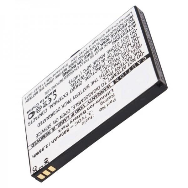 AccuCell batterie adapté pour WiKo Fuzio batterie avec 800mAh