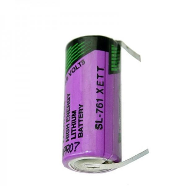 Pile au lithium inorganique SL761 / T de Sunshine avec étiquettes de soudure