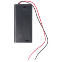 Porte-piles pour 2x piles AA LR6 Mignon avec interrupteur marche / arrêt