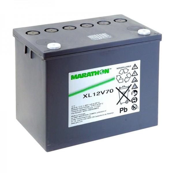 Borne à vis M6 XL12V70 Exide Marathon batterie 12 volts 66600mAh