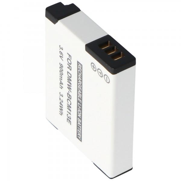 DMW-BCM13 AccuCell batterie de qualité pour Panasonic DMW-BCM13E batterie rechargeable 3,7 V, max. 4,2 volts