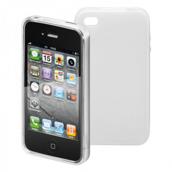 Etui en silicone blanc pour iPhone 4, etui pour iPhone4