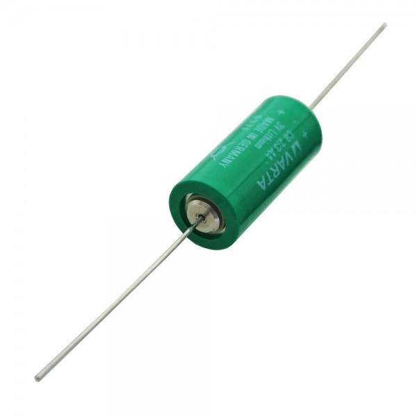 Varta Batterie au lithium CR2 / 3AA, Varta 6237 avec fil axial