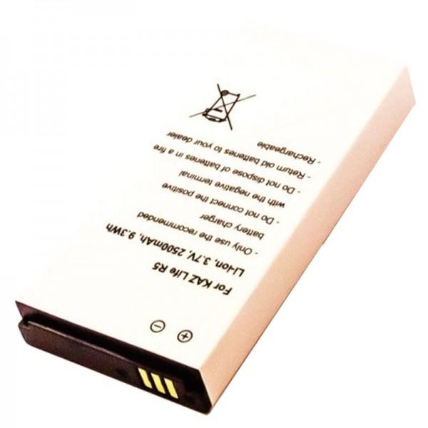 Batterie pour Kazam Life R5, KAR5 3.7 Volt 2500mAh
