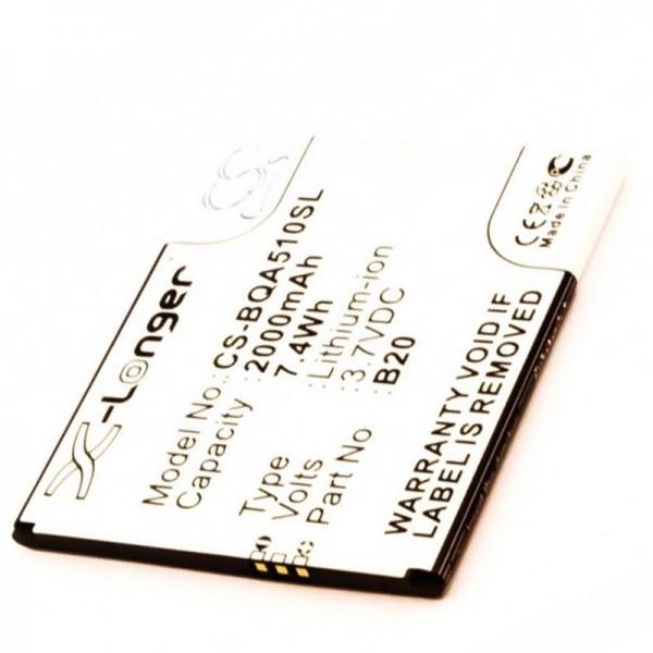 Batterie adaptée à la batterie BQ Aquaris 5.0 HD Aquaris B20