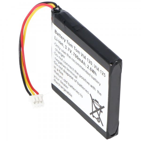 Batterie pour TomTom 4EH51, VIA 120, VIA 150, VIA Live