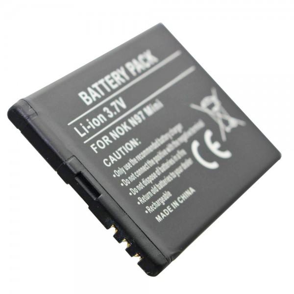 AccuCell batterie adapté pour Nokia N97 Mini, BL-4D