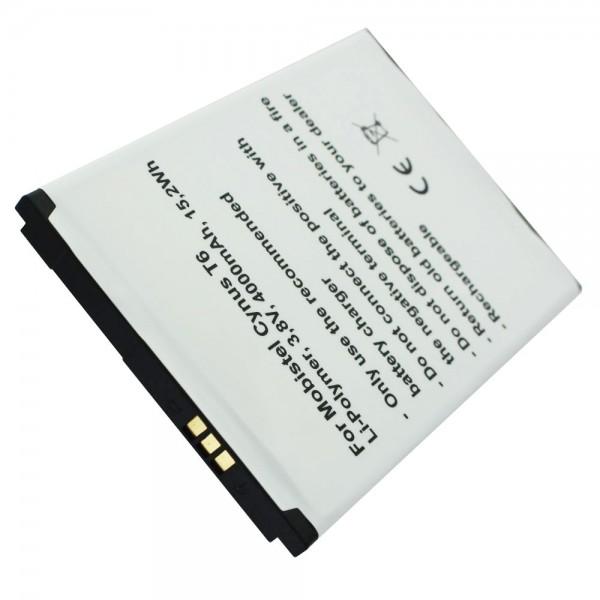 Batterie MOBISTEL Cynus T6 en réplique d'Accucell pour BTY26187