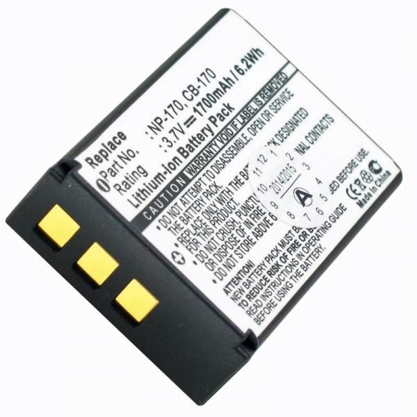 Batterie AccuCell pour Aiptek CB-170, NP-170, 084-07042L-062