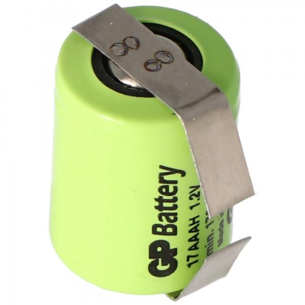 Batterie rechargeable GP 1 / 3AAA NiMH Taille 1/3 AAA 170mAh avec cosse à souder en forme de U