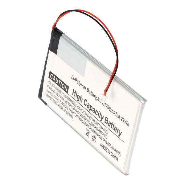 Batterie pour Iriver I600, 1700mAh
