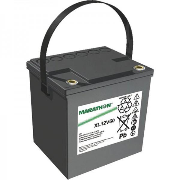 Batterie rechargeable PB Exide Marathon XL12V50 sans entretien, 12 volts, 50 Ah