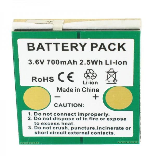 Batterie compatible avec la batterie Li-ion Avaya DECT IH4 3.6V 700mAh