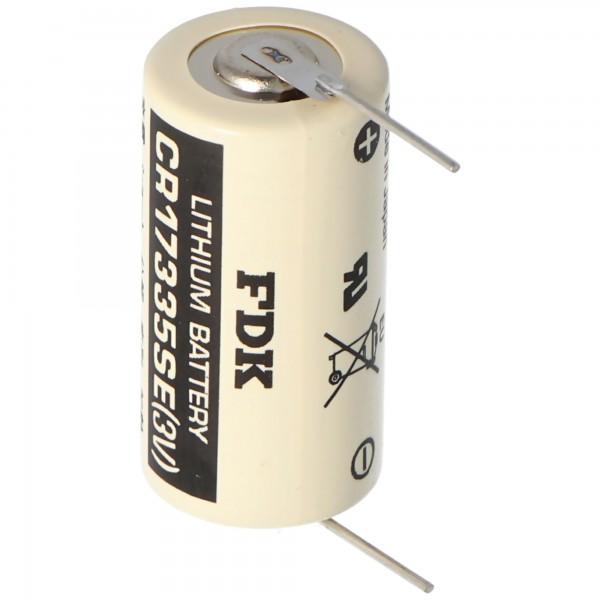 Batterie au lithium Sanyo CR17335 SE Taille 2 / 3A, avec plage de soudure