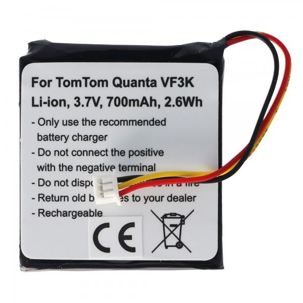 Batterie pour TOMTOM Quanta batterie VF3K, VF3, FM68360420759