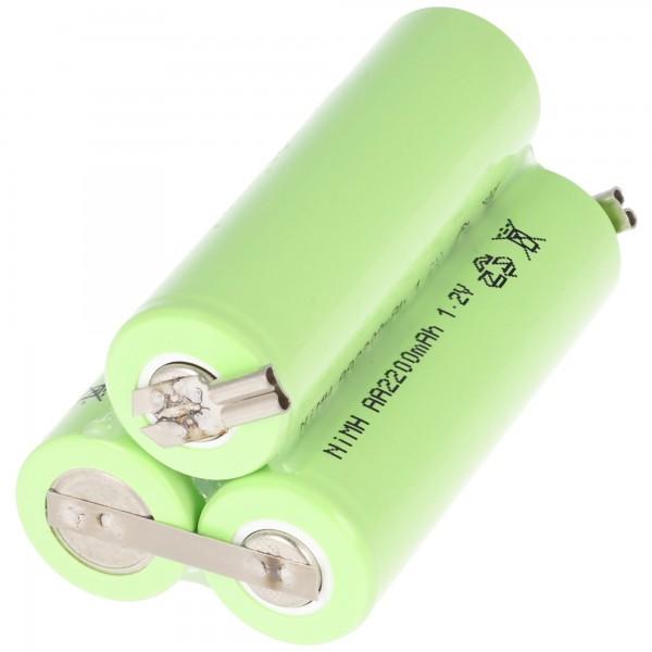 Batterie pour bellissima ermilia Type 1870 B avec 2 contacts à fiche