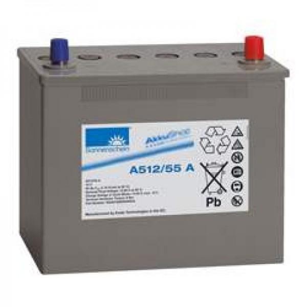 Sonnenschein Dryfit A512 / 55A batterie au plomb, borne A