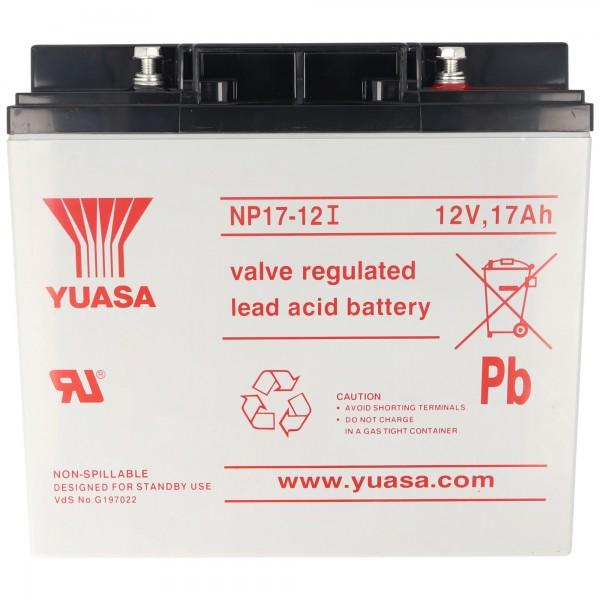 Yuasa NP17-12I avec connexion à vis M5