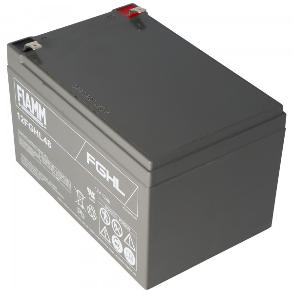 Fiamm 12FGHL48 batterie au plomb PB 12 Volts 12000mAh avec contacts Faston 6.3mm
