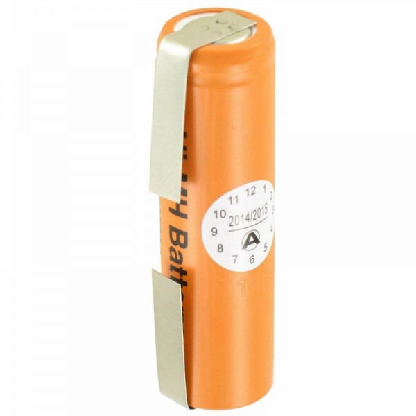 Batterie Panasonic HHR-150AAF9 Ni-MH 1.2Volt 1500mAh avec cosse à souder en forme de U