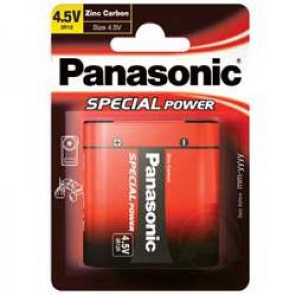 Chargeur spécial 3R12 à pile plate Panasonic 3R12, carbone, zinc