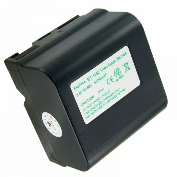 AccuCell batterie adapté pour Sharp BT-H22, BT-H22U, BT-H22U, BT-H22, BT-H32, 5000mAh