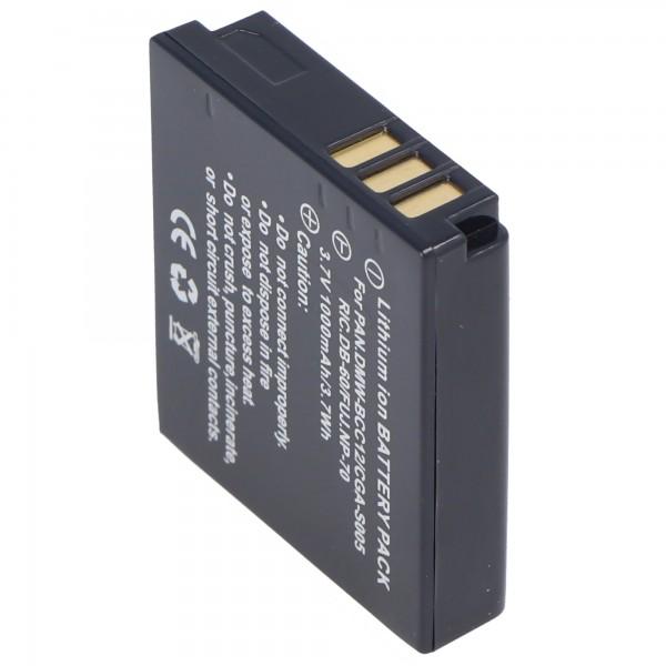AccuCell batterie compatible avec Leica BP-DC4, batterie D-LUX 2
