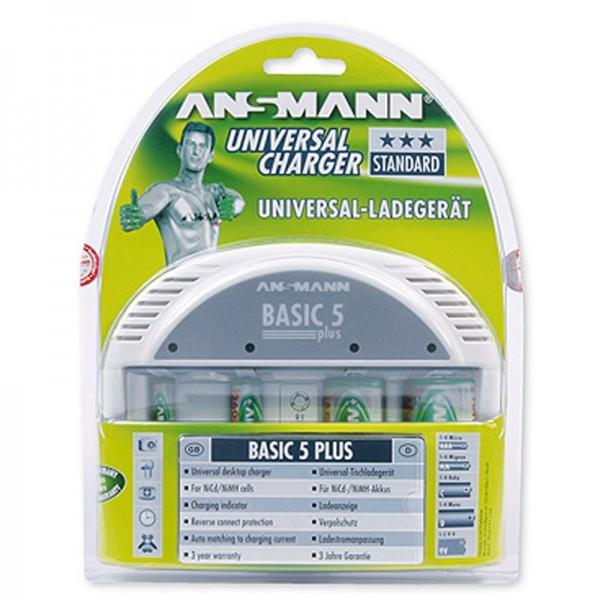 Ansmann Basic5 chargeur de bureau universel pour jusqu'à 6 batteries