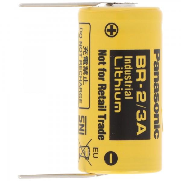 Batterie au lithium Panasonic BR-2 / 3A 3 volts avec palette à souder pour soudure