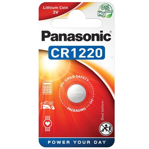 Pile bouton d'alimentation au lithium CR1220 Panasonic CR1220EL / 1B