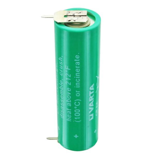Pile lithium Varta CR AA au lithium 6117, UL MH 13654 (N) avec 1er contact d'impression